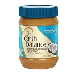 Earth Balance Creamy Peanut and Coconut Oil Spread, 16 oz.