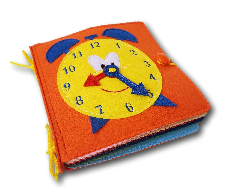Libro de actividades infantil (Quiet Book)-juguete sensorial y educativo. Libro blando de fieltro para el desarrollo, aprendizaje y estimulación de los niños pequeños MyQuietKid