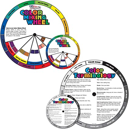 Amazon Com U S Art Supply 4 And 8 Color Mixing Wheel Set 2
