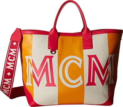 Amazon.com: MCM Ilse Canvas Shopper Medium - Camiseta de ...