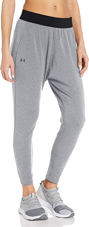 Amazon Com Under Armour Modal Tapered Slouch Pantalones Para Mujer Clothing