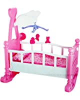 Toyshine Pretend Play Baby Bed with Accessories