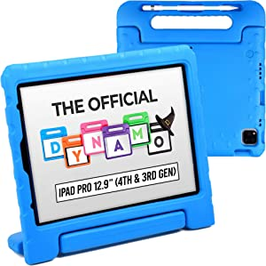 Official Cooper Dynamo [Rugged Kids Case] for 2020/2018 iPad Pro 12.9 4th & 3rd Gen | Protective Foam Cover | Stand, Handle, Pencil Charge Slot (Blue)