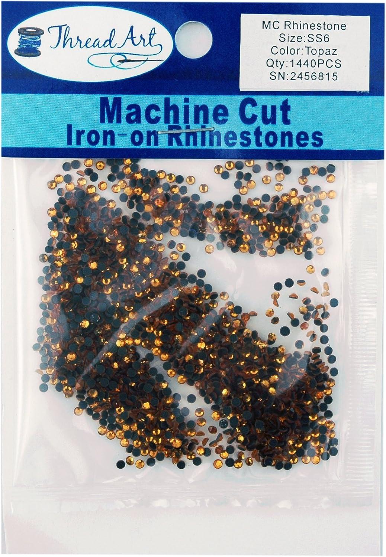 25 Colors and 5 1440 Stones//pkg 2mm Threadart Machine Cut Hot Fix Rhinestones SS6 Citrine 10 Gross Hotfix Rhinestones