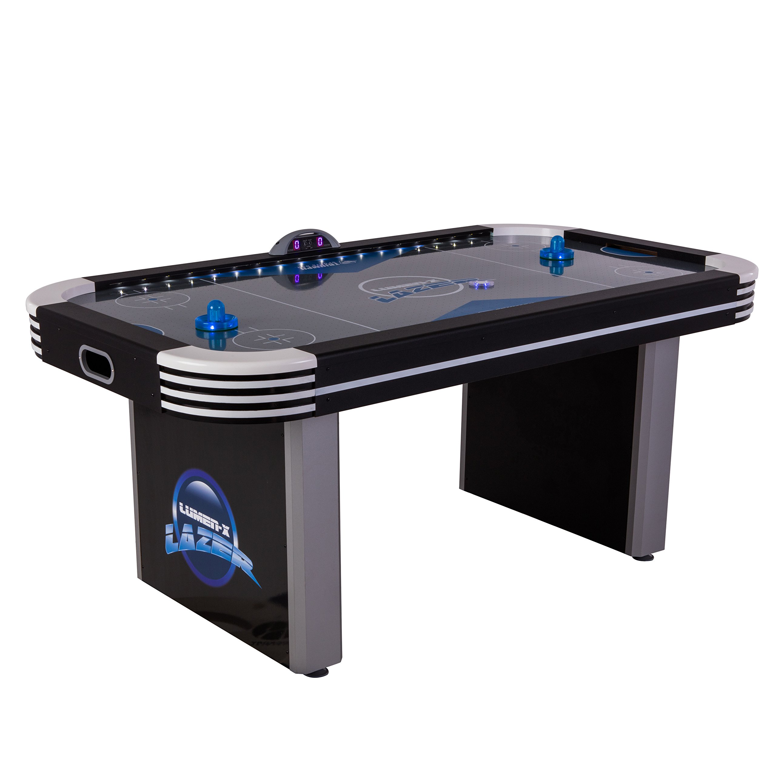 Triumph Lumen-X Lazer 6' Interactive Air Hockey Table Featuring All-Rail LED Lighting and In-Game Music by Triumph Sports