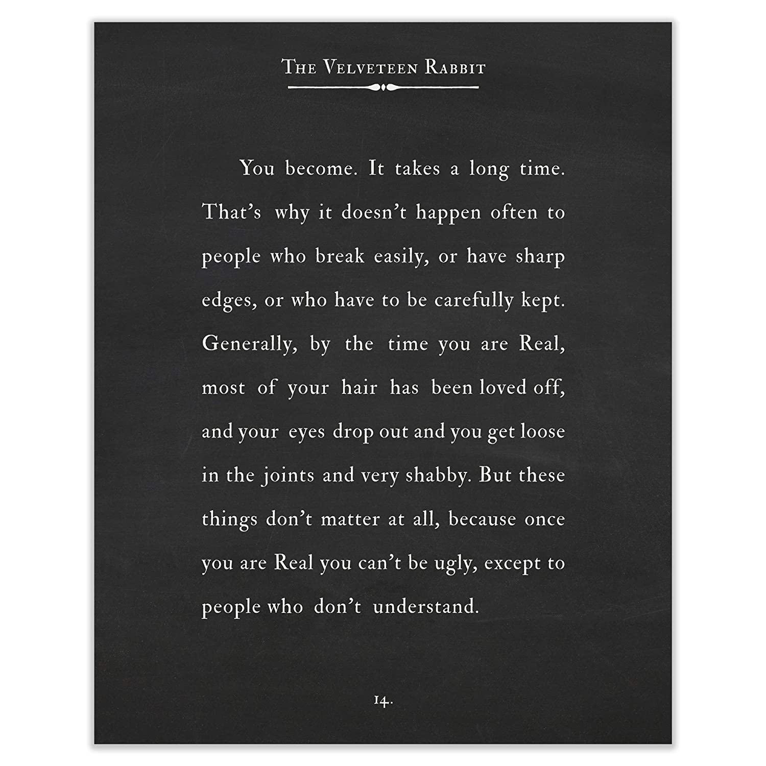 Amazon.com: Art of Observation The Velveteen Rabbit Quote ...