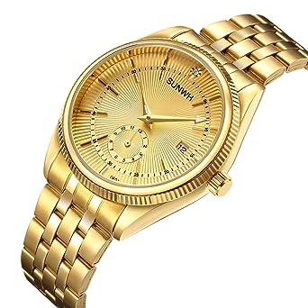 Prächtig SUNWH Herren Uhr Analog Quarz mit Edelstahl Armband S-03d: Amazon &BW_83
