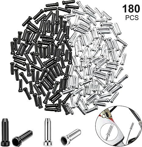 180 Piezas de Casquillos de Extremo de Cable de Bicicleta para ...