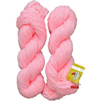 Vardhman Brilon 100% Acrylic Wool, Pack of 2 200 gm (Pink)