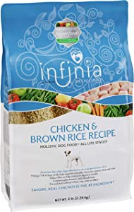 Infinia | Chicken and Brown Rice Dog Food | Nutritionally Complete 5 Pound (5 lb) Bag
