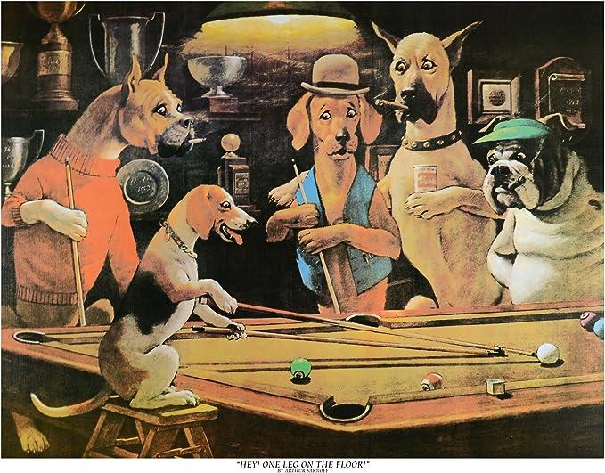 Sterling Gaming Impresiones de Perros Que juegan al Billar (Conjunto de Cinco): Amazon.es: Deportes y aire libre