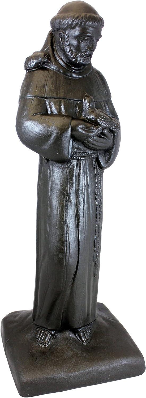 "Emsco Group 92230 29"" Saint Francis Garden Statue, Bronze"