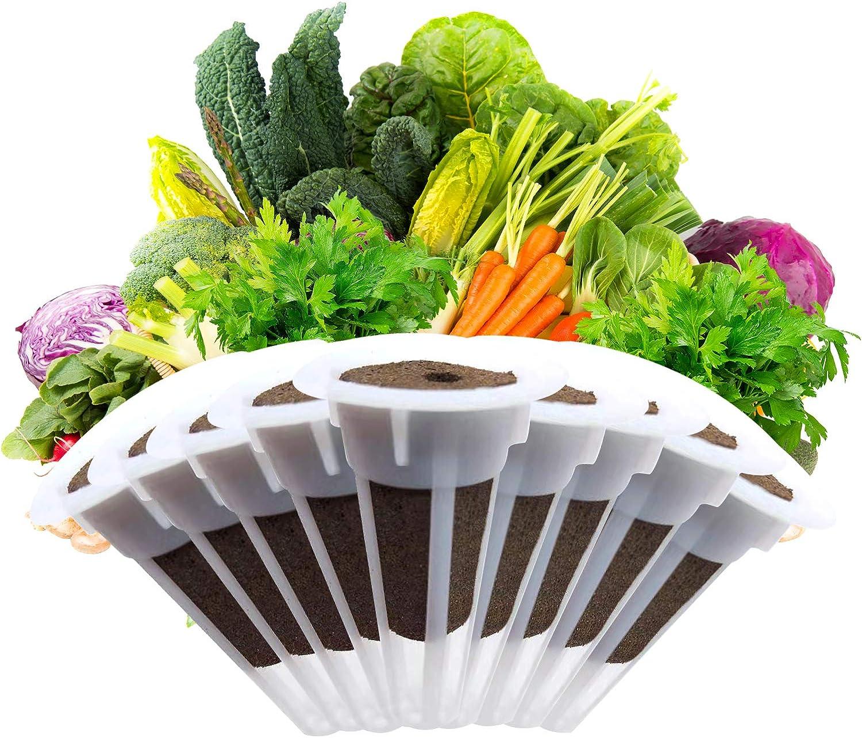 changsha 50Pcs Grow Baskets Set, Grow Sponge and Grow Plant Basket Pod for Indoor Growing Garden AeroGarden Hydroponic Garden System (Round)