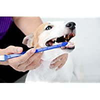 """Duke's Pet Products Two-Piece Dog Toothbrush Set: Double Sided Canine Dental Hygiene Brushes with Long 8 1/2"""" Handles…"""