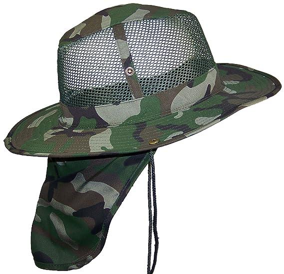 Tropic Hats Summer Wide Brim Mesh Safari Outback W Neck Flap   Snap ... 871cd3a61999