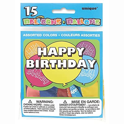 Happy Birthday Water Dart Balloons, Assorted 15ct: Kitchen & Dining