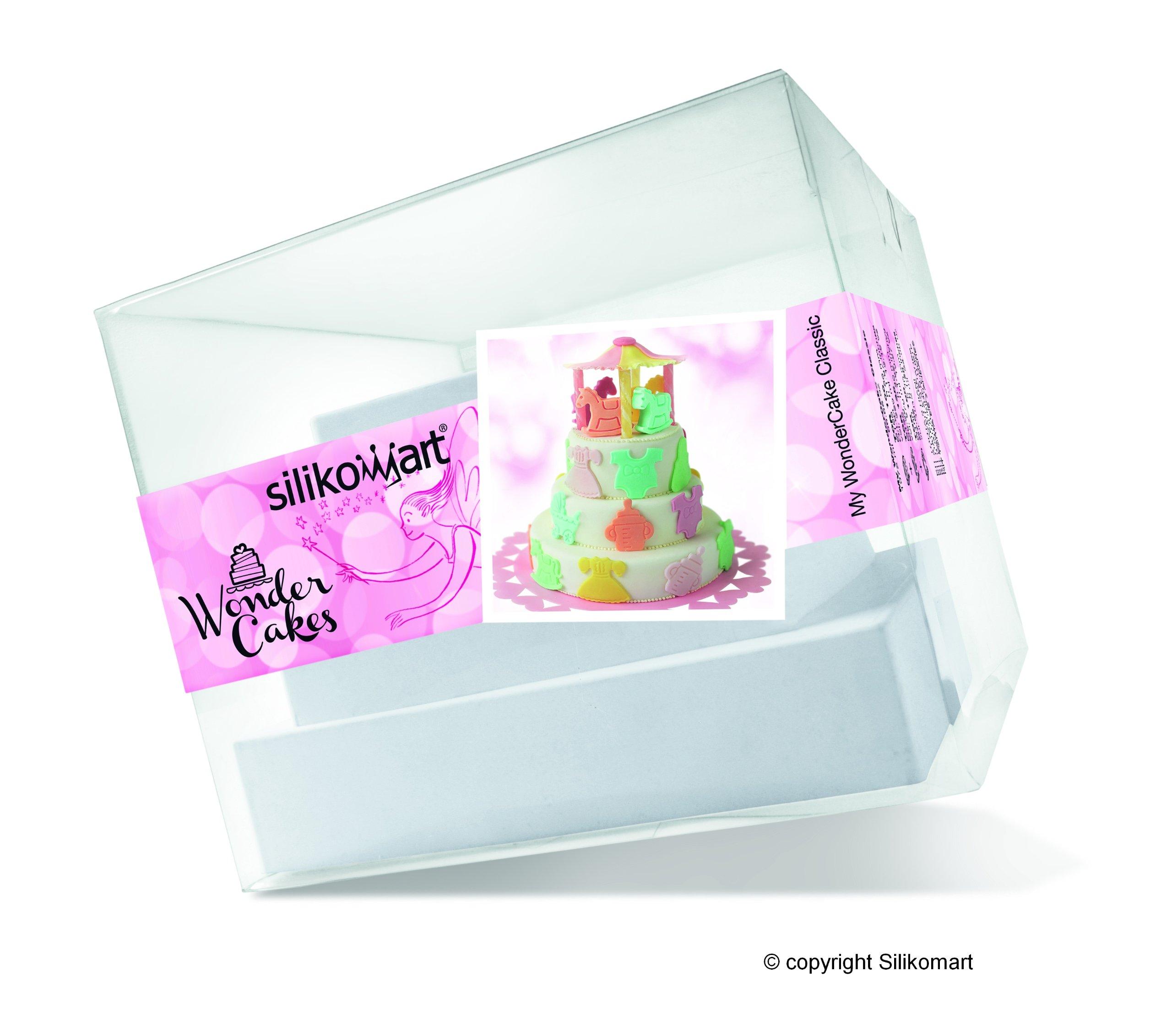 Silikomart Silicone My Wonder Cake Classic Cake Pans, Set of 3