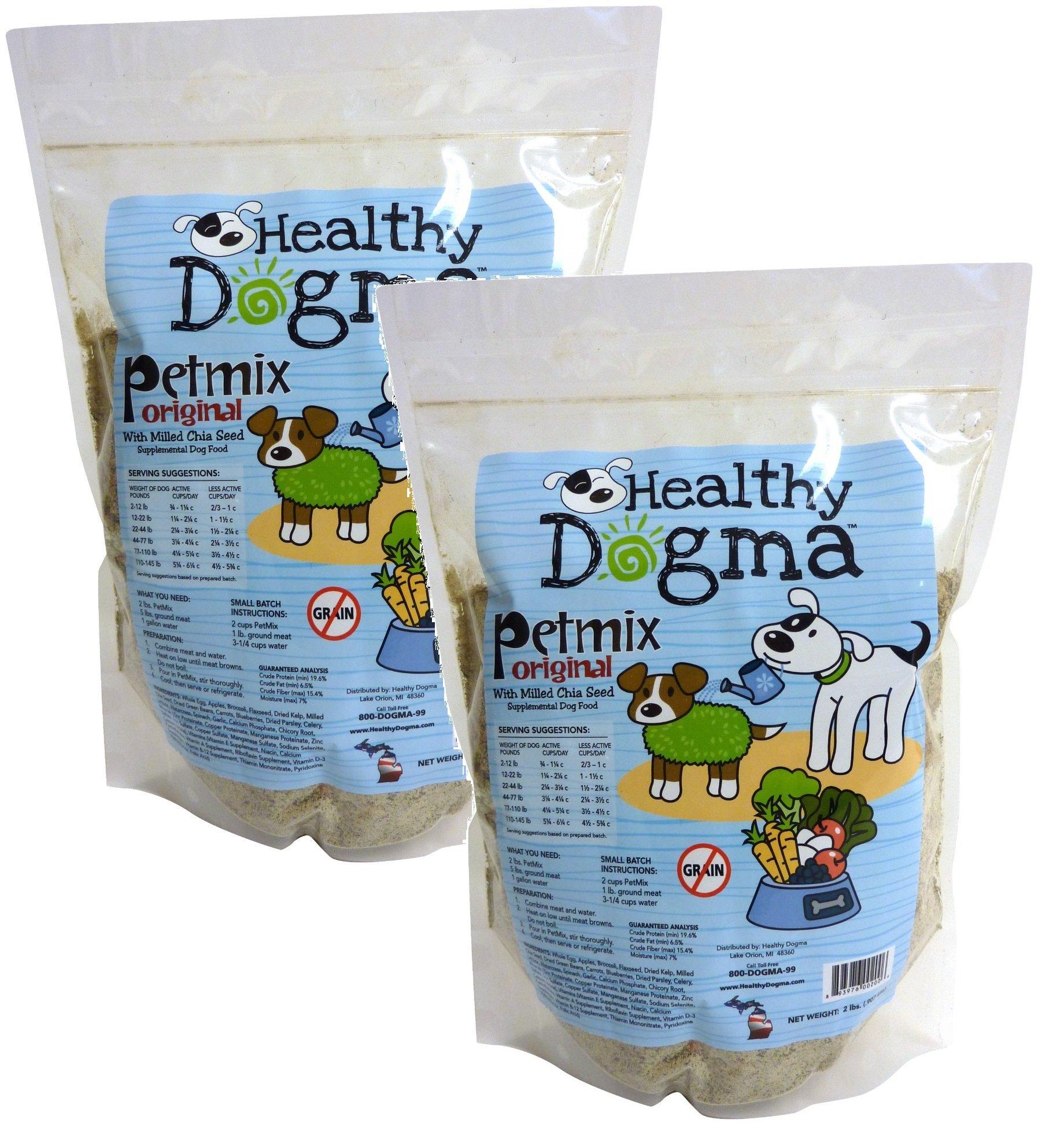 Healthy Dogma PetMix Original Dog Food, 2-Pound Bag (2 Pack) by Healthy Dogma