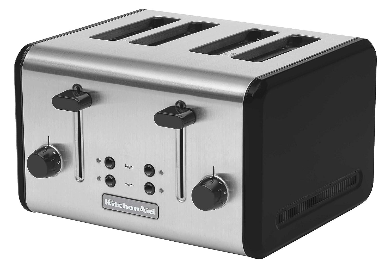 KitchenAid KMTT400OB 4-Slice Metal Toaster, Onyx Black and Stainless Steel
