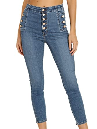 62ca580512139 Amazon.com  J Brand Women s Natasha Sky High Cropped Skinny Jeans ...