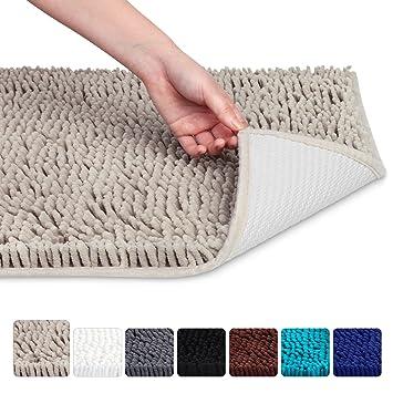 bathroom mat. Vdomus Non slip Microfiber Shag Bathroom Mat  20 x 32 Inches Beige Amazon com