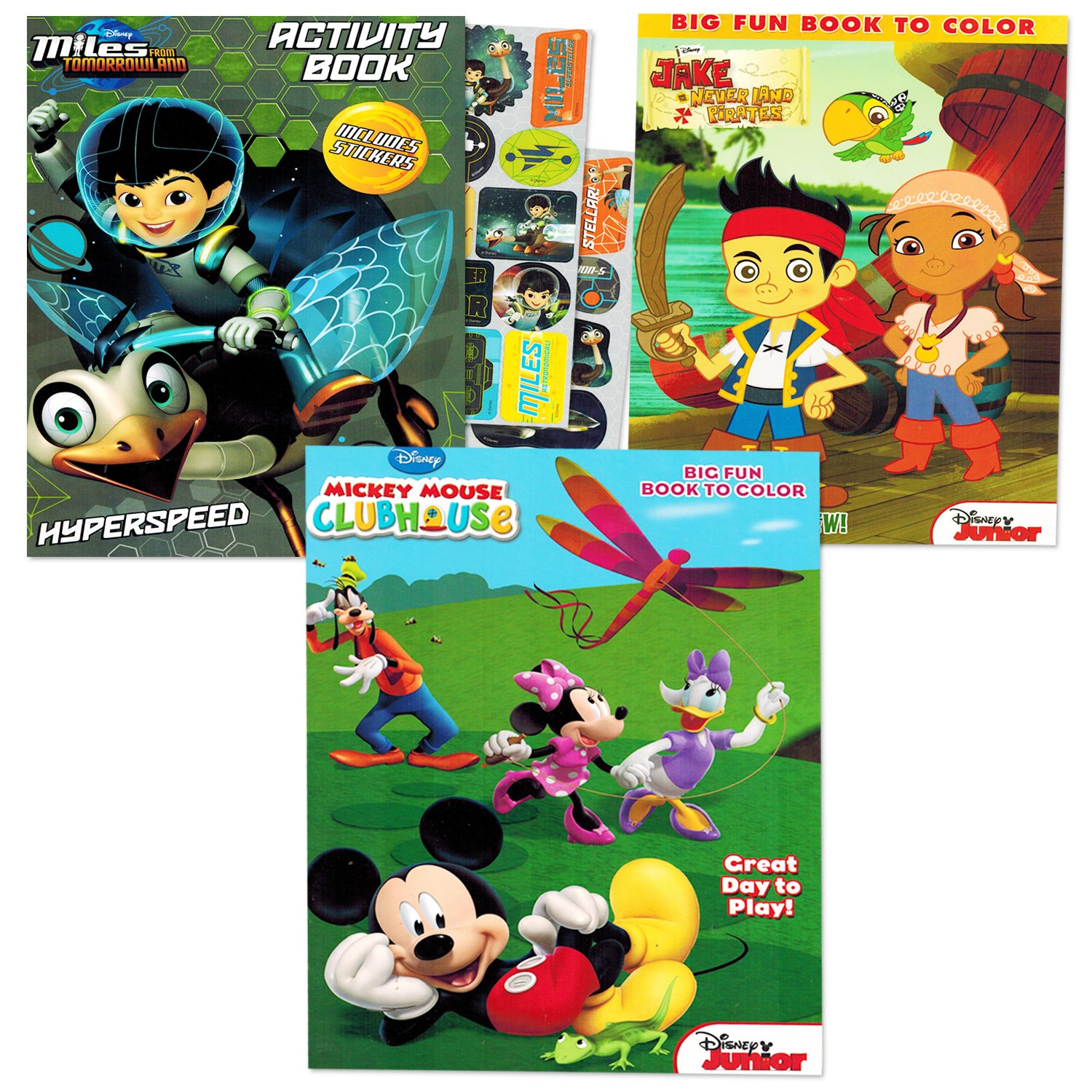 Amazon.com: Disney Coloring Books Set for Kids Toddlers Boys -- 3 ...