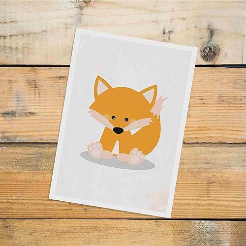 Postkarte Dreamchen Kinderzimmer Deko Fuchs: Amazon.de: Handmade