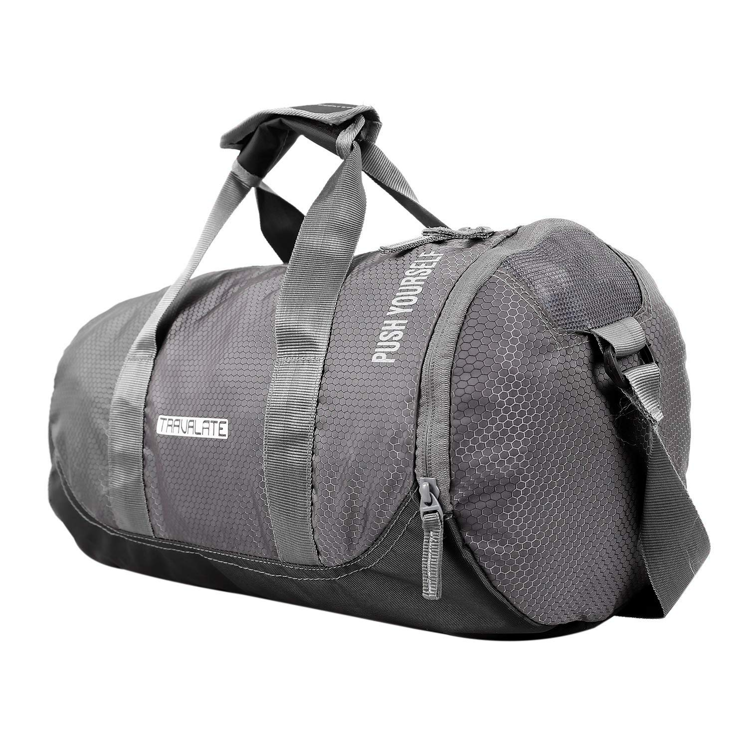 TRAVALATE Polyester Water Resistant Gym Sports Duffel Bag for Men and Women  with Shoes Compartment  Amazon.in  Bags 69ad7ea3aa571