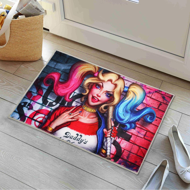 Har_Ley Qu_inn Anime Area Rugs for Boy Gaming Desk Non-Slip Mats 16x24 Inches