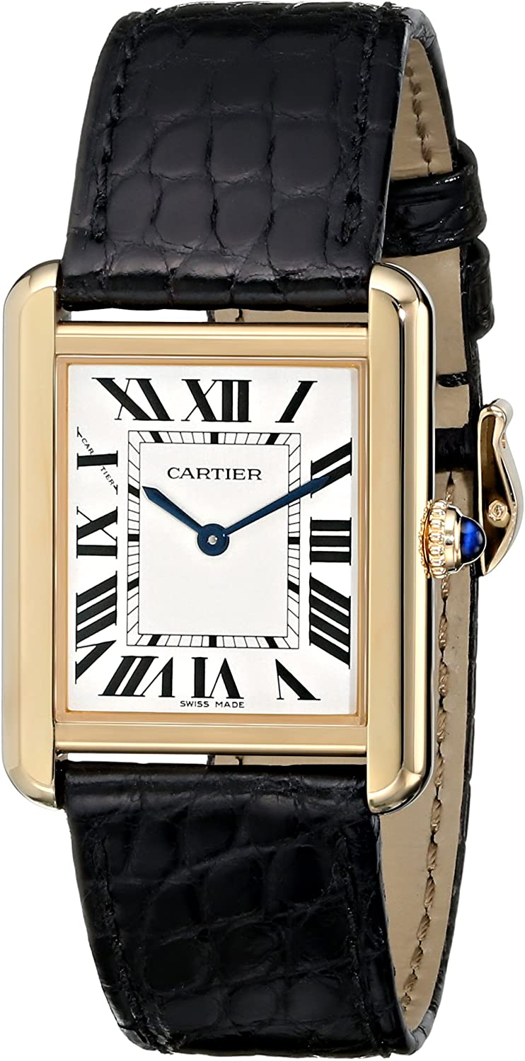 Cartier Women s W5200004 Tank Solo 18kt Yellow Gold Case Watch