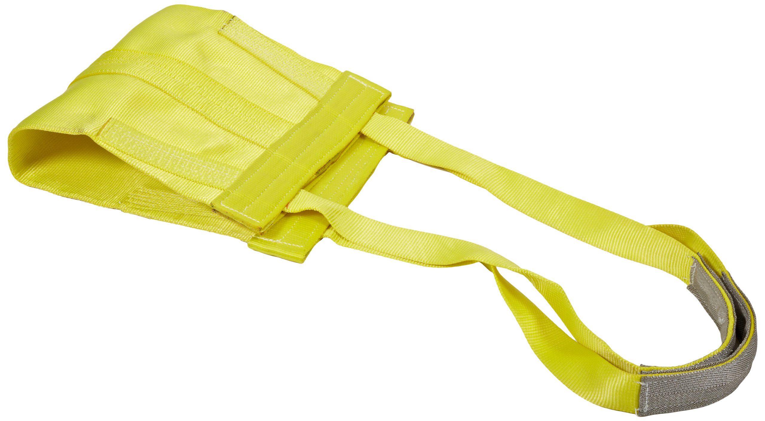 Mazzella EE2-901 Polyester Web Sling 1 Width Eye-and-Eye 6 Length 2 Ply 3200 lbs Vertical Load Capacity 6 Twist Eyes Yellow