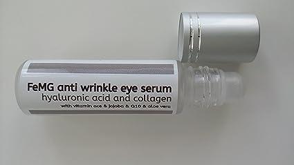 FeMG Suero antiarrugas de ojos con Ácido Hialurónico y Colágeno NOBLE para la piel - envase