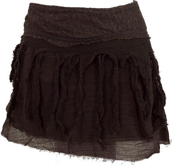 GURU-SHOP, Mini Falda de Psytrance Goa, Falda Hippie, Falda Wrap ...
