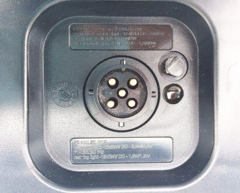 2x R/ückleuchte LED 220x100x50 5PIN Bajonet Anh/änger Trailer Wohnwagen LKW SET