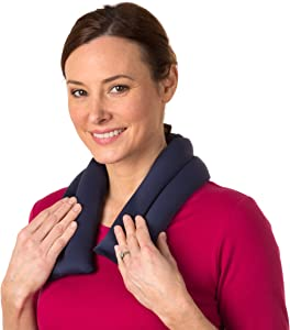 Sunny Bay Extra Long Ice Wrap for Neck and Shoulder, Heat Therapy Pad for Sore Neck & Shoulder Muscle Pain Relief- Thermal, Reusable, Non-Electric Hot Pack or Cold Compress Microwavable, Navy Blue