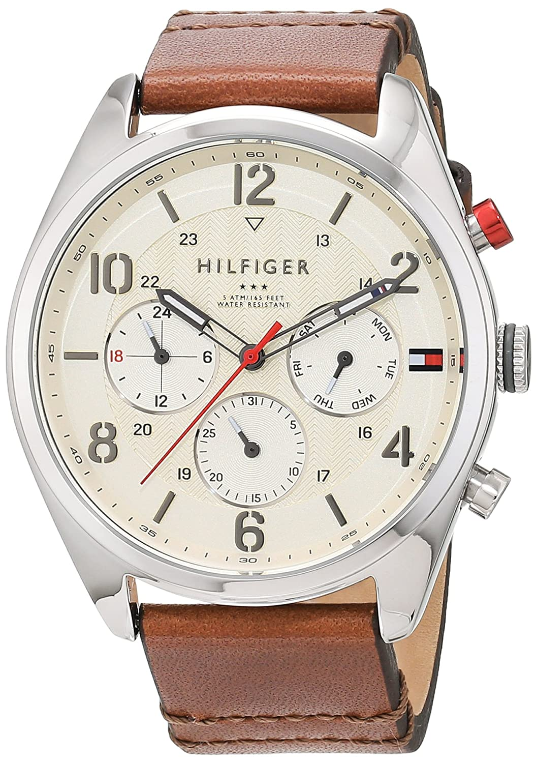 Amazon.com: Tommy Hilfiger Mens 1791208 Casual Sport Watch with Brown Band: Tommy Hilfiger: Watches