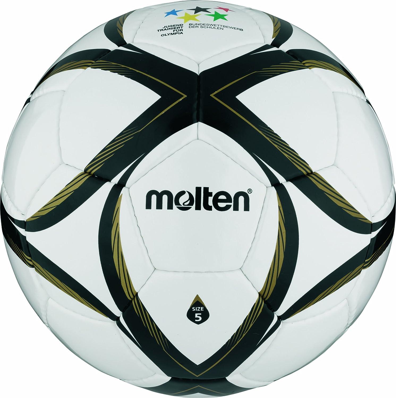 Molten - Balón de fútbol, color blanco/negro/dorado, talla 5 ...