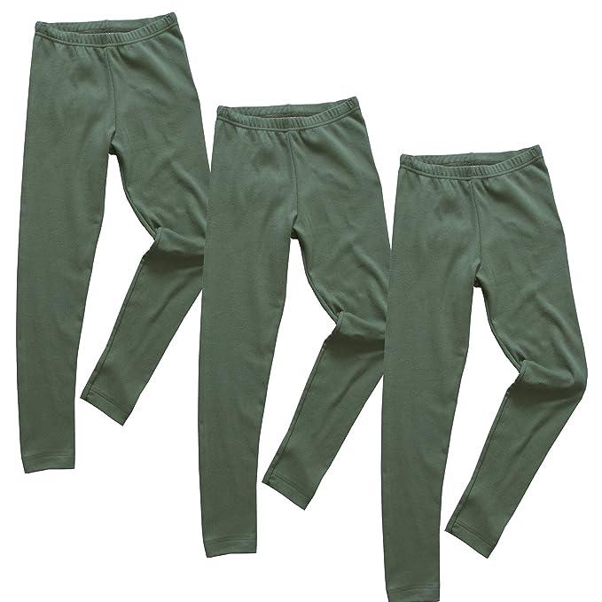 HERMKO 2720 Kit de 3 Leggings para Chicos y Chicas, 100% algodón ...