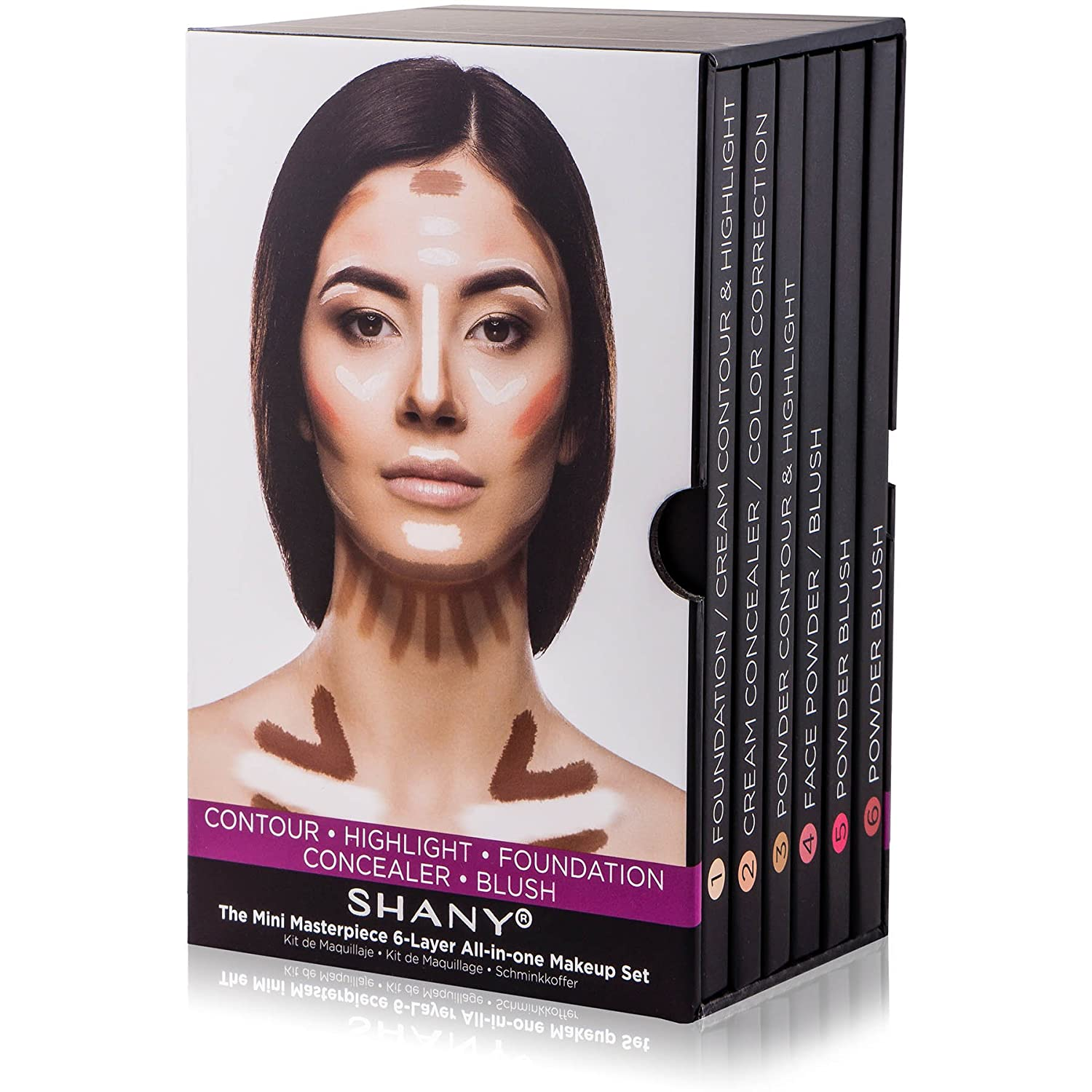 SHANY The Mini Masterpiece 6 Layers Foundation, Concealer, Camouflage, Contour, Blush Palette ETRAVIS Inc CA