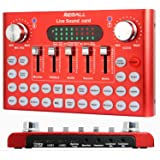 REMALL Bluetooth Live Sound Card Voice Changer, Audio DJ Mixer, Multiple Sound Effects Audio Box for Mobile Phone Computer Ga