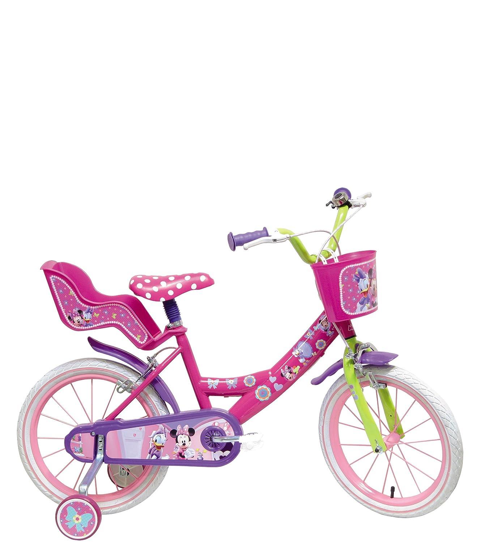 Bici bicicletta ruota 14 con rotelle minnie w.d