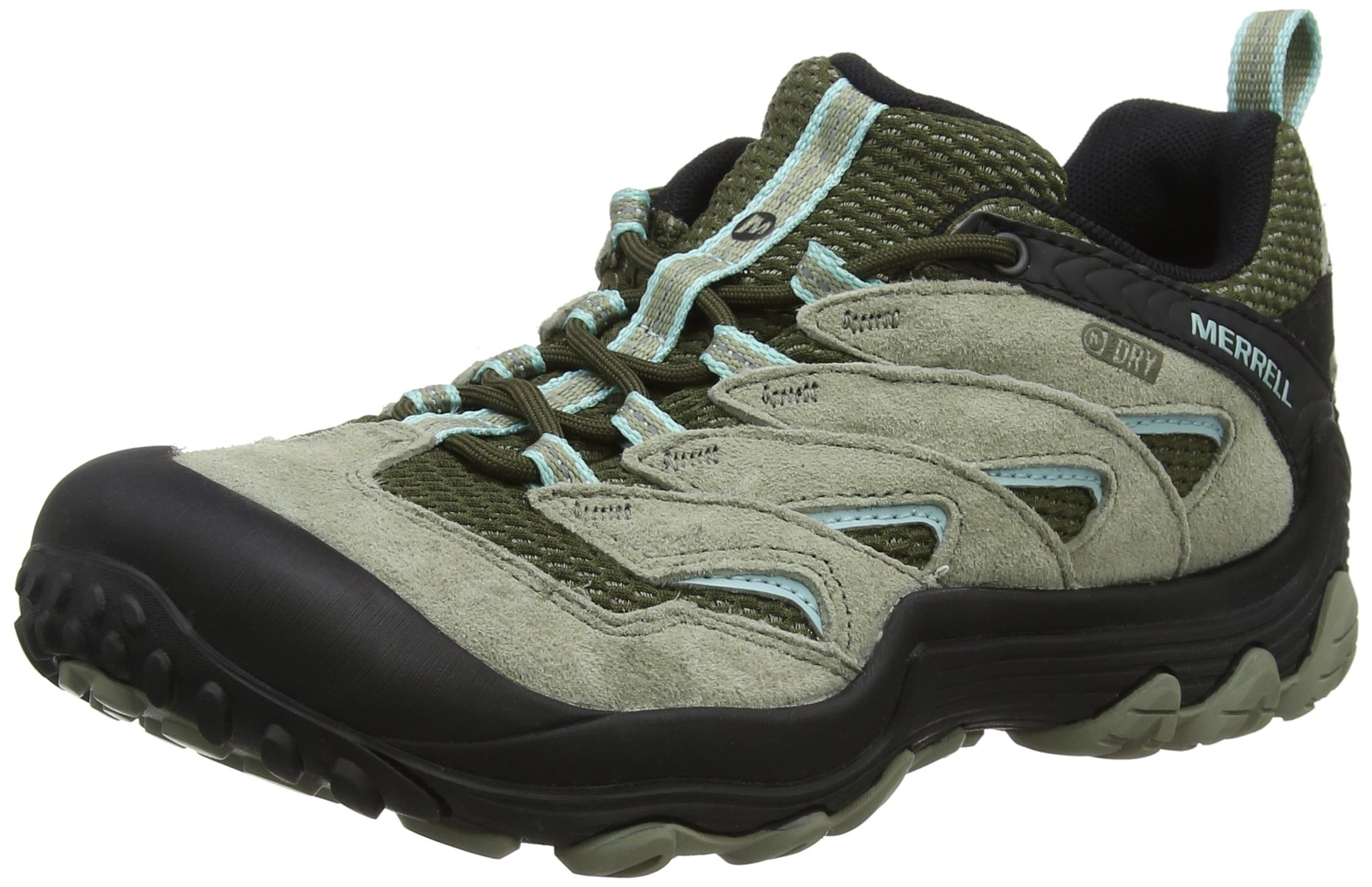 Merrell Women's Chameleon 7 Limit Waterproof Hiking Boot, Dusty Olive, 7 Medium US