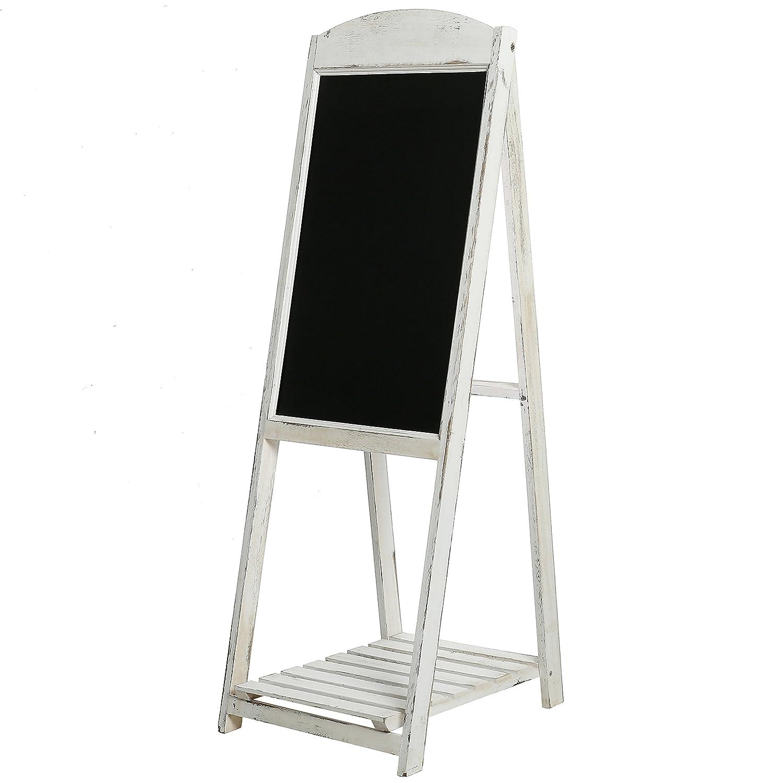 114,3/cm Rustic Whitewashed Wood a-frame Sidewalk menu Chalkboard Sign display con mensola