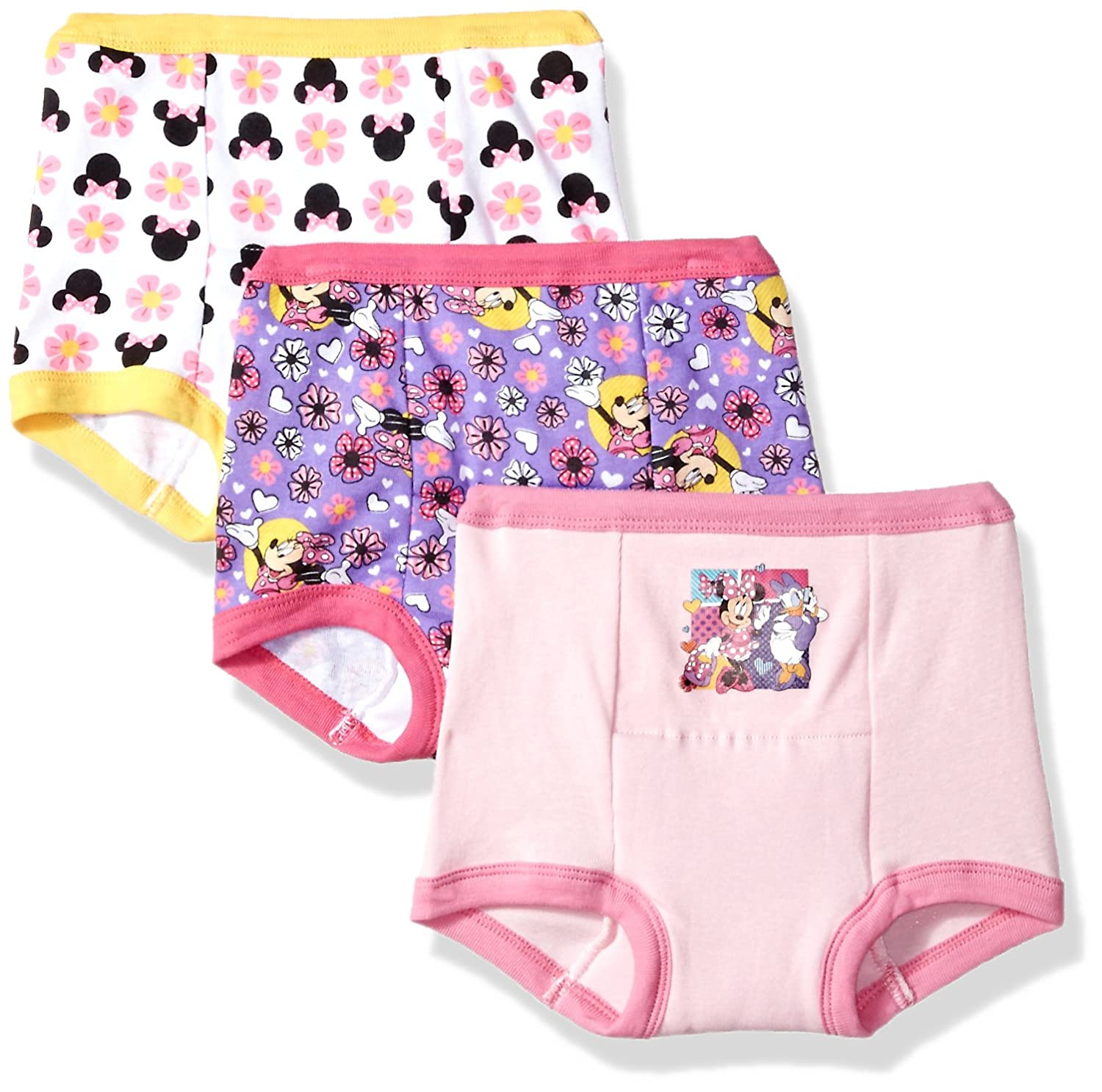 Disney Girls' Minnie Mouse 3pk Training Pant GTP7277
