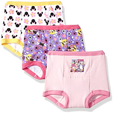 6962a2271 Amazon.com: Disney Minnie Mouse Girls' 3-Pack Training Pants & Chart Set:  Clothing