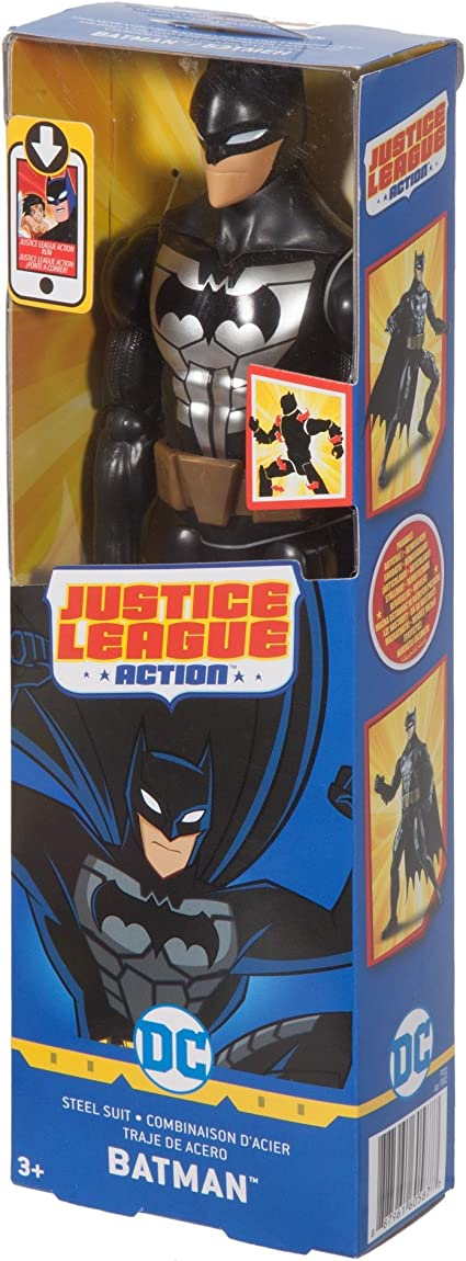 30cm Batman Steel Suit figure Justice League mattel Action fpc62