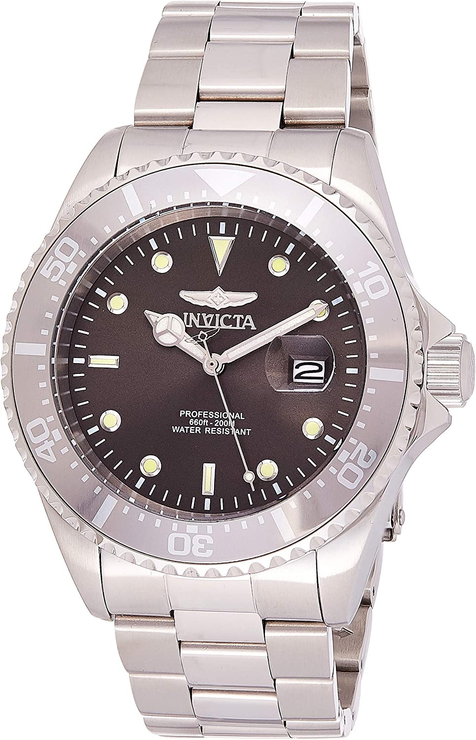 Invicta Men s Pro Diver Quartz Diving Watch with Stainless-Steel Strap, Silver, 14 Model 22050