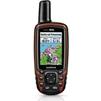 Garmin Tinta unita GPSMAP 64s + Topo transalpin + Navigation mano dispositivo, Nero/Arancione, M