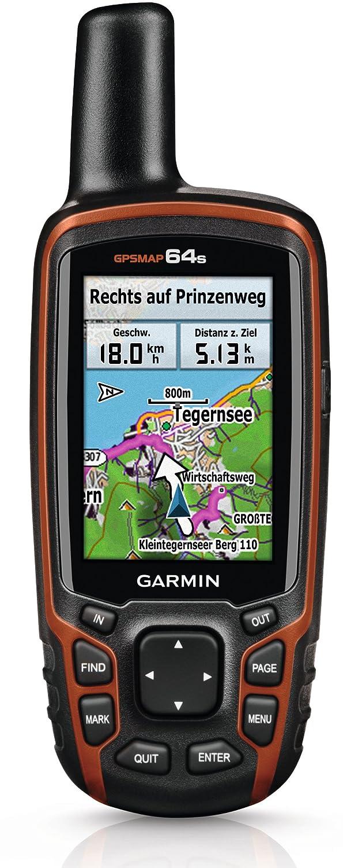 Garmin GPSMAP 64s, GPS Handheld inklusive Topo TransAlpin+ PRO - mit GPS und GLONASS-Kompatibilität, zusätzlichen Sensoren und drahtloser Konnektivität