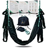 YOGA SWING PRO Premium Aerial Yoga Hammock Trapeze Kit - Antigravity Acrobat Flying Sling Set for Inversion Therapy